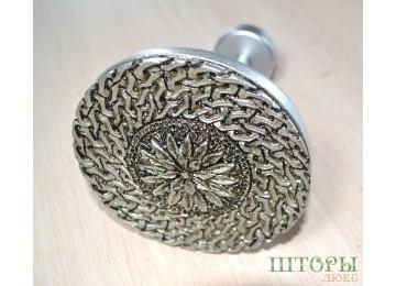 Держатель для штор Медальен серебро