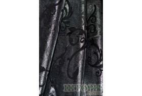 Парча вензель черная с серебром 7013 v 5