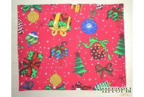 Новогодняя текстильная салфетка Подарки