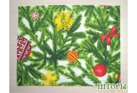 Новогодняя текстильная салфетка Ёлочка