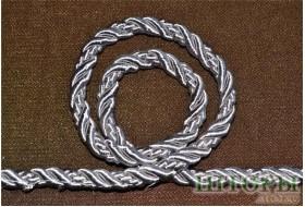 Декоративный витой шнур  для штор и мебели металлик 17-В