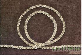 Декоративный витой шнур  для штор молочный 3-С