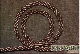Декоративный витой шнур  для штор молочный шоколад 53-С