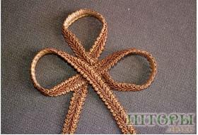 Сутаж косичка коричневый 55 С