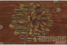 Тафта оливковый цветок на коричневом поле 9529 v 6